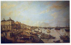 14-vue du quai des chartrons en 1804 P Lacour 2,20x3,40